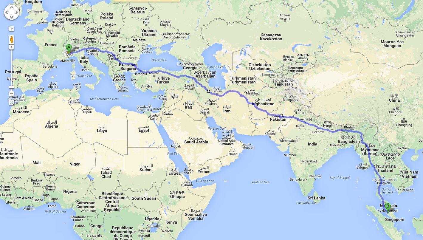 Savigliano - Kuala Lumpur - Mattia Miraglio - Il giro del mondo a piedi